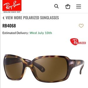 Ray-Ban RB 4068 Sqaure Sunglasses